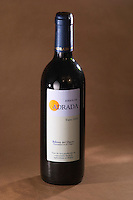 A bottle of Kirios de Adrada Tinto 2001, organic wine from Ribera del Duero, Spain