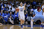 01 March 2015: Duke's Mercedes Riggs. The Duke University Blue Devils hosted the University of North Carolina Tar Heels at Cameron Indoor Stadium in Durham, North Carolina in a 2014-15 NCAA Division I Women's Basketball game. Duke won the game 81-80.