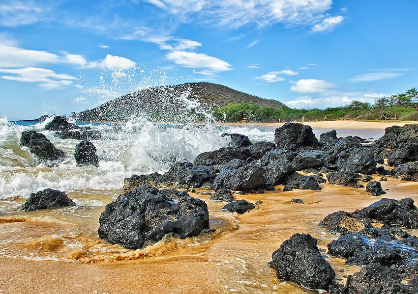 Lava rocks at Big Beach, Makena State Park, Maui