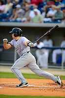 Jacksonville Suns catcher J.T. Realmuto #11 during a game against the Pensacola Blue Wahoos on April 15, 2013 at Pensacola Bayfront Stadium in Pensacola, Florida.  Jacksonville defeated Pensacola 1-0 in 11 innings.  (Mike Janes/Four Seam Images)