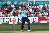 Matt Fisher hits 4 runs for Yorkshire during Essex Eagles vs Yorkshire Vikings, Royal London One-Day Cup Play-Off Cricket at The Cloudfm County Ground on 14th June 2018