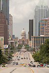Austin - Texas State Capitol, looking down South Congress Avenue