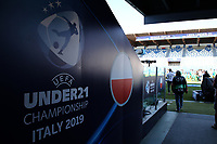 Poland banner UEFA Under 21 Championship Italy 2019<br /> Reggio Emilia 16-06-2019 Stadio Città del Tricolore <br /> Football UEFA Under 21 Championship Italy 2019<br /> Group Stage - Final Tournament Group A<br /> Poland - Belgium<br /> Photo Cesare Purini / Insidefoto