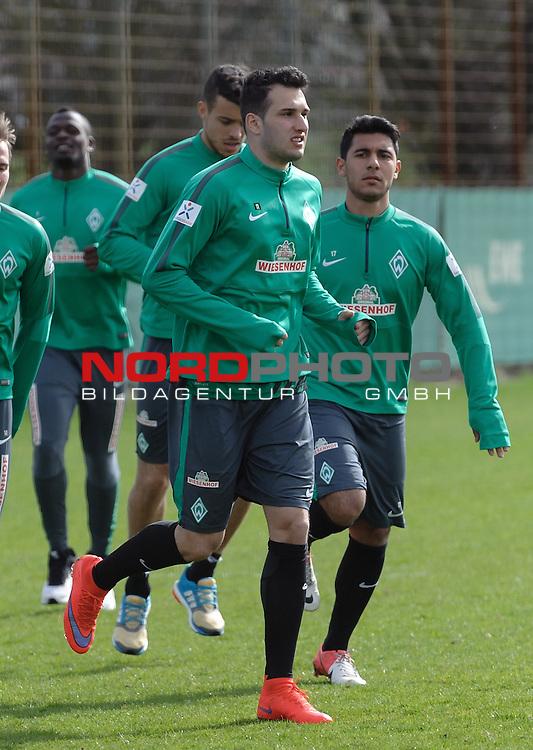 13.04.2015, Trainingsgelaende, Bremen, GER, 1.FBL, Training Werder Bremen, im Bild Levin &Ouml;ztunali / Oeztunali (Bremen #11)<br /> <br /> Foto &copy; nordphoto / Frisch
