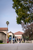 Thorne Hall as seen from Occidental College's Johnson Student Center (JSC) quad on Feb. 27, 2019.<br /> (Photo by Marc Campos, Occidental College Photographer)