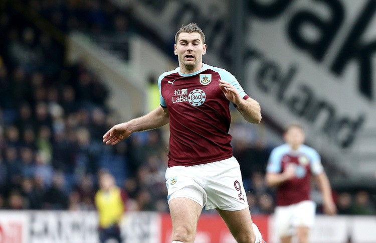 Burnley's Sam Vokes<br /> <br /> Photographer Rich Linley/CameraSport<br /> <br /> Emirates FA Cup Third Round - Burnley v Barnsley - Saturday 5th January 2019 - Turf Moor - Burnley<br />  <br /> World Copyright © 2019 CameraSport. All rights reserved. 43 Linden Ave. Countesthorpe. Leicester. England. LE8 5PG - Tel: +44 (0) 116 277 4147 - admin@camerasport.com - www.camerasport.com