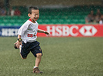 Kids attend the coaching clinic with Hong Kong players at the Hong Kong Football Club on 20 April 2013 in Hong Kong. Photo by Andy Jones / The Power of Sport Images