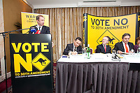 NO REPRO FEE. VOTE NO TO THE 30TH AMENDMENT.  Oisín Quinn SC and Dublin City Councilor (Labour) is pictured at the Official launch of the 'NO' Campaign at the The Westbury Hotel, Dubliin. Picture James Horan/Collins.