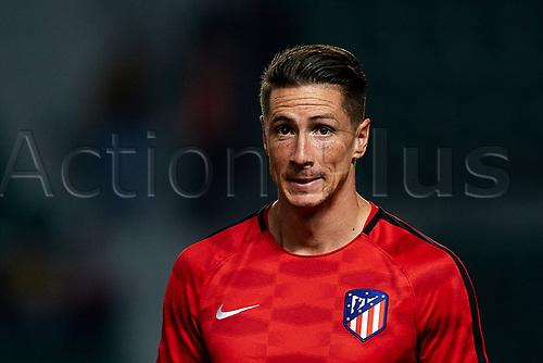 25th October 2017, Estadio Manuel Martinez Valero, Elche, Spain; Copa del Rey, round of 32, Elche versus Atletico Madrid; Fernando Torres of Atletico de Madrid looks on prior to the game