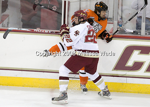 Paul Carey (BC - 22), Nick Bailen (BGSU - 55) - The Boston College Eagles defeated the visiting Bowling Green State University Falcons 5-3 on Friday, October 17, 2008, at Kelley Rink at Conte Forum in Chestnut Hill, Massachusetts.