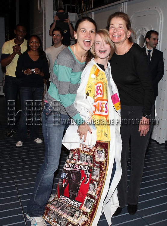 Sutton Foster & Joyce Chittick & Jessica Walter.attending the Opening Night Performance Gypsy Robe Ceremony for Recipient Joyce Chittick for The Roundabout Theatre Company's Broadway Production of 'Anything Goes'  in New York City.