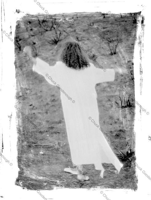 Black and White Polapan film as a 4x5  interneg scan.