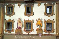 Berchtesgaden, Bavaria, Germany, May 2006. Many houses of Berchtesgaden have extensive murals and wall paintings. The beauty of berchtesgadener Land lies in the spectacular mountain landscapes, combined with age old traditions and a welcoming culture. Photo by Frits Meyst/Adventure4ever.com