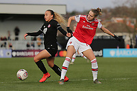 Vivianne Miedema of Arsenal and Ebony Salmon of Bristol City during Arsenal Women vs Bristol City Women, Barclays FA Women's Super League Football at Meadow Park on 1st December 2019