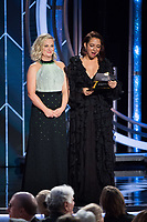 Presenters Amy Poehler and Maya Rudolph onstage during the 76th Annual Golden Globe Awards at the Beverly Hilton in Beverly Hills, CA on Sunday, January 6, 2019.<br /> *Editorial Use Only*<br /> CAP/PLF/HFPA<br /> Image supplied by Capital Pictures