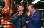 Food  John McKenna and Sean O'Driscoll, Muckross Park Hotel sampling the first batch of whiskey produced at the Dingle Distillery during a fact finding tour of Slea Head as part of the National Tourism Forum which took place in Killarney at the weekend. Over 200 delegates from all over Ireland attend the inaugural event which was addressed by national and international speakers.<br /> Photo: Don MacMonagle<br /> <br /> Repro free photo