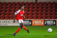 Jay Matete scores his penalty during the The Leasing.com Trophy match between Fleetwood Town and Liverpool U21 at Highbury Stadium, Fleetwood, England on 25 September 2019. Photo by Stephen Buckley / PRiME Media Images.