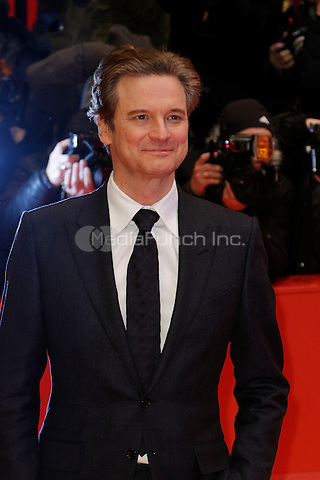 Colin Firth attending the &quot;Genius&quot; premiere held at Grand Hyatt Hotel during 66th Berlinale International Film Festival, Berlin, Germany, 16.02.2016. <br /> Photo by Christopher Tamcke/insight media /MediaPunch ***FOR USA ONLY***