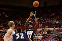 01 December 2010: Jackson State guard De'Suan Dixon (23) comes down with the defensive rebound against the Nebraska Cornhuskers at the Devaney Sports Center in Lincoln, Nebraska. Nebraska defeated Jackson State 76 to 57.