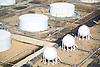 Aerial view of Oil Terminals outside Philadelphia