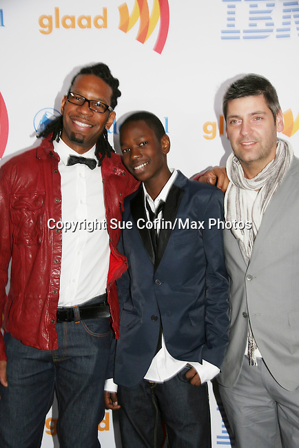 LZ Granderson - Isaiah - Steve Huesing at the 21st Annual GLAAD Media Awards on March 13, 2010 at the New York Marriott Marquis, New York City, NY. (Photo by Sue Coflin/Max Photos)