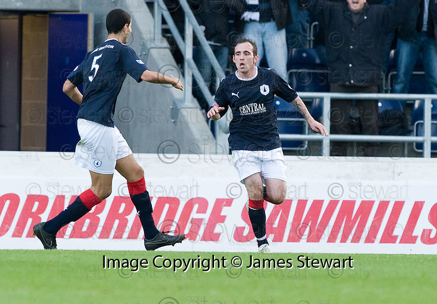 30/10/2010   Copyright  Pic : James Stewart.sct_jsp013_falkirk_v_dundee  .:: MARK STEWART CELEBRATES AFTER HE  HEADS HOME FALKIRK'S SECOND :: .James Stewart Photography 19 Carronlea Drive, Falkirk. FK2 8DN      Vat Reg No. 607 6932 25.Telephone      : +44 (0)1324 570291 .Mobile              : +44 (0)7721 416997.E-mail  :  jim@jspa.co.uk.If you require further information then contact Jim Stewart on any of the numbers above.........