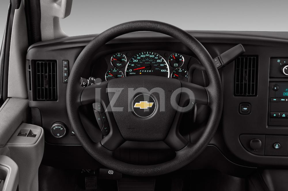 Car pictures of steering wheel view of a 2016 Chevrolet Express-Cargo 2500-Work-Van-HD 4 Door Cargo Van Steering Wheel