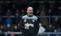 Manager Paul Cook of Portsmouth during the Sky Bet League 2 match between Wycombe Wanderers and Portsmouth at Adams Park, High Wycombe, England on 28 November 2015. Photo by Andy Rowland.