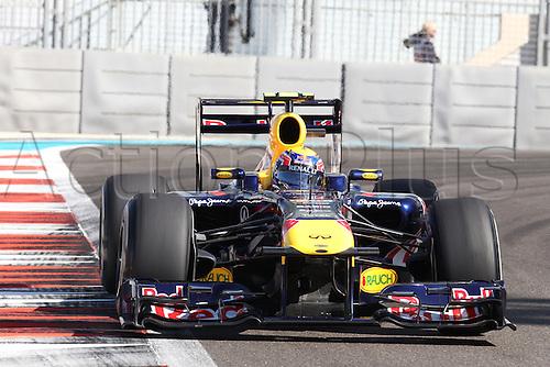 11.11.2011 Abu Dhabi, United Arab Emirates. Yas Marina Circuit, Mark Webber, Red Bull Racing, .., during the practice day of the FIA Formula One Grand Prix of Abu Dhabi UAE.