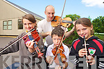 MUSICAL: Clodagh Palmer, Tom Dean, Padraig Foley and Eimear Palmer getting ready for the Fleadh Ceoil in Kenmare.