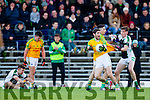 Killian Young South Kerry in action against Conor Keane  Legion at the Kerry County Senior Football Final at Fitzgerald Stadium on Sunday.