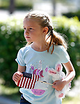 Mallory McCarthy, 6, participates in the 5th annual Veterans Suicide Awareness March, hosted by the Western Nevada College Veterans Resource Center, in Carson City, Nev., on Saturday, May 4, 2019. <br /> Photo by Cathleen Allison/Nevada Momentum