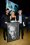MIAMI, FL - FEBRUARY 21: Magicians David Blaine, Guest and author Paul Auster onstage after a reading during A Evening with Paul Auster & friends! MUSIC, MAGIC & THE MUSE: for his latest novel, '4 3 2 1' features Singer Sophie Auster at Adrienne Arsht Center - Knight Concert Hall on February 21, 2017 in Miami, Florida. ( Photo by Johnny Louis / jlnphotography.com )