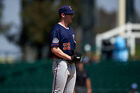 Lancaster JetHawks starting pitcher Brandon Gold (32) looks to his catcher for the sign during a California League game against the Inland Empire 66ers at San Manuel Stadium on May 20, 2018 in San Bernardino, California. Inland Empire defeated Lancaster 12-2. (Zachary Lucy/Four Seam Images)
