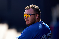 Toronto Blue Jays Alejandro Kirk (85) during a Spring Training game against the New York Yankees on February 22, 2020 at the George M. Steinbrenner Field in Tampa, Florida.  (Mike Janes/Four Seam Images)