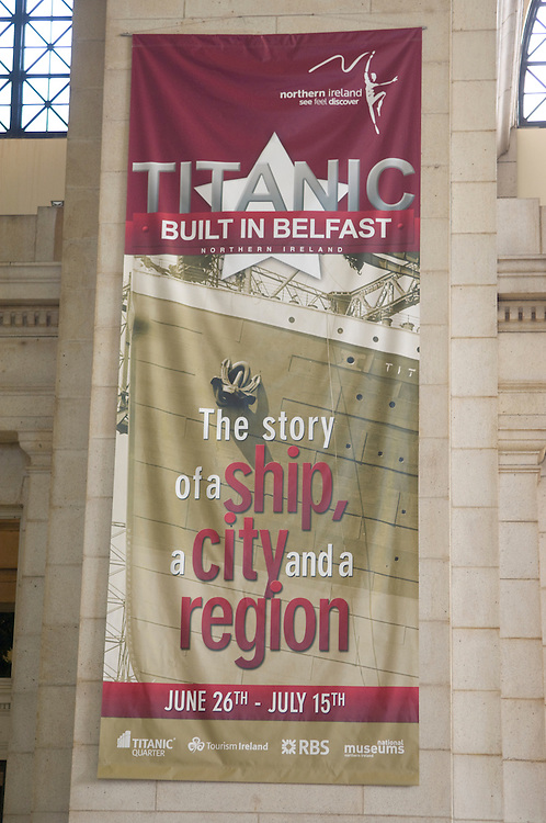 The Titanic Exhibition at Union Station is now on display in the Great Hall. It runs across a three week period from late June to mid-July 2007. Across the period Union Stations will host 1.6 million visitors including many of the most influential government and business decision-makers in the United States. Drawing primarily on the rich archives of the Ulster Folk and Transport Museum the exhibition employs the latest technology with large-scale photographs, moving images, audio archive and 3-D graphics. Workers leaving Harland and Wolff Shipyard from unique newsreel footage of the Titanic in Belfast Lough in 1912 to the contemporary opportunities at Titanic Quarter, the city centre and across Northern Ireland the exhibition audience will discover new things about our past and a fresh sense of future opportunities.