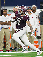 Hawgs Illustrated/Ben Goff<br /> Jace Sternberger, Texas A&M tight end in the 2nd quarter Saturday, Sept. 29, 2018, during the Southwest Classic at AT&T Stadium in Arlington, Texas.