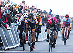 Alexander Kamp (DEN) Riwal Readynez Cycling Team outsprints Christopher Lawless (GBR) Team Ineos and Greg Van Avermaet (BEL) CCC Team to win Stage 3 of the 2019 Tour de Yorkshire, running 132km from Brindlington to Scarborough, Yorkshire, England. 4th May 2019.<br /> Picture: ASO/SWPix/Alex Broadway | Cyclefile<br /> <br /> All photos usage must carry mandatory copyright credit (&copy; Cyclefile | ASO/SWPix/Alex Broadway)