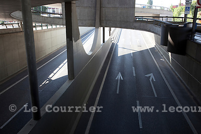 Genève, le 19.08.2009.Praille, Acacias, Vernet.© Le Courrier / J.-P. Di Silvestro