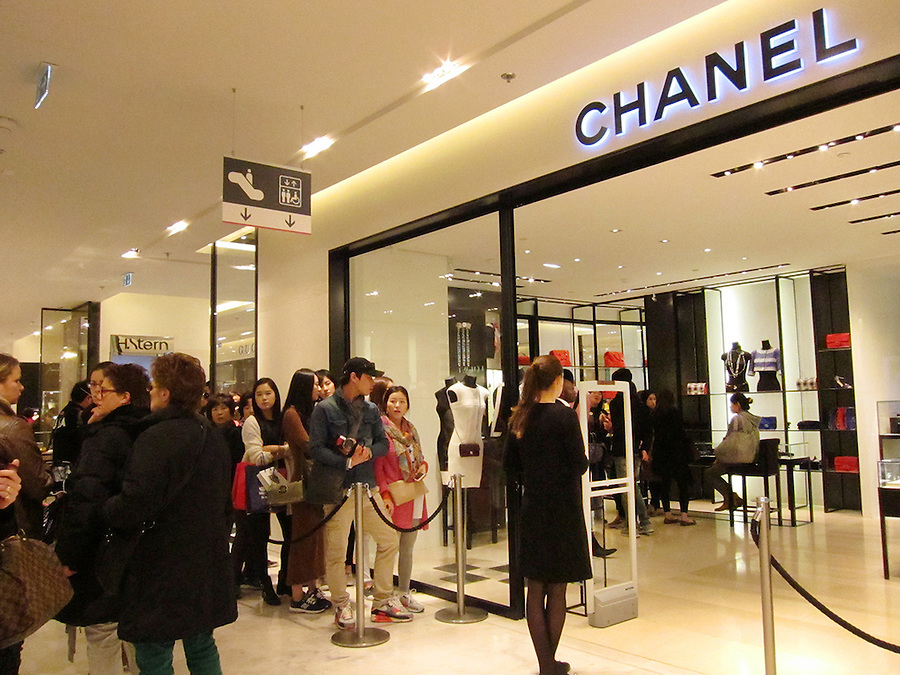 Chanel store inside Galeries Lafayette, Paris, France