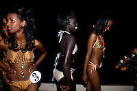 Contenders for the crown wait backstage to access the catwalk during the 2009 MIss Ethiopia beauty pageant held at the Intercontinental Hotel in Ethiopia's Capital Addis Ababa on Sunday January 18 2009.