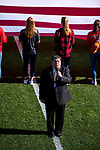 KANSAS CITY, MO - DECEMBER 02: The national anthem   is performed prior to the start of the Division II Women's Soccer Championship between Carson-Newman University and the University of Missouri  held at the Swope Soccer Village on December 2, 2017 in Kansas City, Missouri. (Photo by Doug Stroud/NCAA Photos/NCAA Photos via Getty Images)