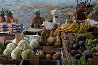fruit seller, street scene in Havana, Cuba