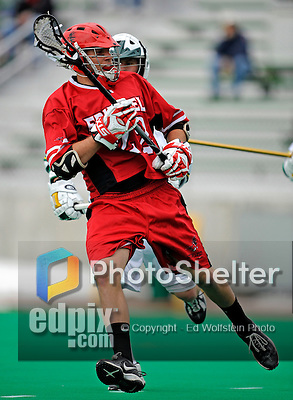 1 April 2008: Fairfield University Stags' Midfielder Chris Campbell, a Junior from Revere, MA, in action against the University of Vermont Catamounts at Moulton Winder Field, in Burlington, Vermont. The Catamounts rallied to overcome a five goal deficit and defeat the visiting Stags 9-8 notching their third win of the season...Mandatory Photo Credit: Ed Wolfstein Photo