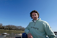 Putney. GREAT BRITAIN. Kristopher [Kip] McDANIEL, at the  2007 Oxford and Cambridge University  Boat Race, Challenge and Crew Announcement. Winchester Club, London  12.03.2007,  [Photo Peter Spurrier/Intersport Images]...  [Mandatory Credit, Peter Spurier/ Intersport Images]. , Putney Embankment, [Hard]