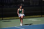 DENTON TX - APRIL 11: University of North Texas Mean Green Tennis at Warranch Tennis Center in Denton on April 7, 2019, in Denton Texas.