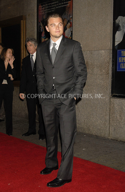 WWW.ACEPIXS.COM . . . . ....December 7, 2007, New York City....Leonardo DiCaprio attends the NY Film Critics Awards at the Supper Club.....Please byline: KRISTIN CALLAHAN - ACEPIXS.COM.. . . . . . ..Ace Pictures, Inc:  ..(212) 243-8787 or (646) 679 0430..e-mail: picturedesk@acepixs.com..web: http://www.acepixs.com