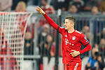 07.11.2018, Allianz Arena, Muenchen, GER, UEFA CL, FC Bayern Muenchen (GER) vs AEK Athen (GRC), Gruppe E, UEFA regulations prohibit any use of photographs as image sequences and/or quasi-video, im Bild Jubel nach dem Tor zum 2-0 durch Robert Lewandowski (FCB #9) <br /> <br /> Foto &copy; nordphoto / Straubmeier