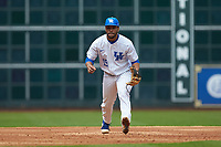Alex Rodriguez (19) of the Kentucky Wildcats on defense against the Sam Houston State Bearkats during game four of the 2018 Shriners Hospitals for Children College Classic at Minute Maid Park on March 3, 2018 in Houston, Texas. The Wildcats defeated the Bearkats 7-2.  (Brian Westerholt/Four Seam Images)