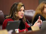 Nevada Assemblywoman Teresa Benitez-Thompson, D-Reno, works in commitee at the Legislative Building in Carson City, Nev., on Friday, Feb. 6, 2015. <br /> Photo by Cathleen Allison